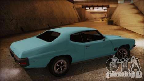 Pontiac Lemans Hardtop Coupe 1971 для GTA San Andreas вид слева