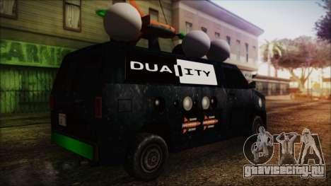 Duality Van - Furgoneta Duality для GTA San Andreas вид слева