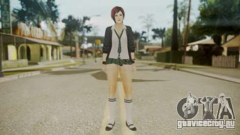 DoA School Grl для GTA San Andreas второй скриншот