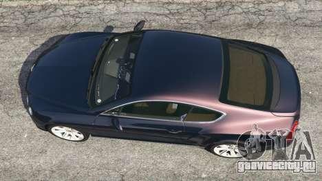 Bentley Continental GT 2012 v1.1 для GTA 5 вид сзади