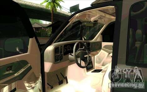 Chevrolet Suburban ФСБ России для GTA San Andreas вид слева