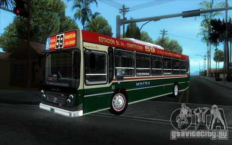 Ugarte Europeo MB OH1718L-SB Linea 59 для GTA San Andreas