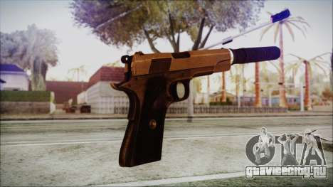 Original Colt 45 Silenced HD для GTA San Andreas третий скриншот