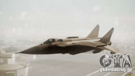 Mikoyan MiG-31 Yuktobanian Air Force для GTA San Andreas