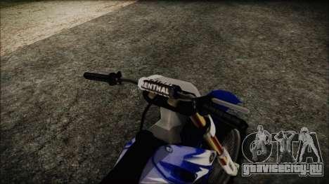 Yamaha YZ250 для GTA San Andreas вид справа