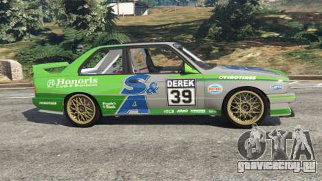 BMW M3 (E30) 1991 [Honoris] v1.2 для GTA 5 вид слева