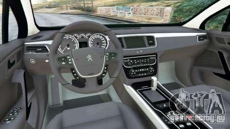 Peugeot 508 для GTA 5 вид сзади справа