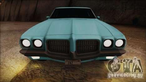 Pontiac Lemans Hardtop Coupe 1971 для GTA San Andreas вид сзади