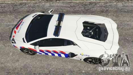 Lamborghini Aventador LP700-4 Dutch Police v5.5 для GTA 5 вид сзади