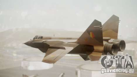 Mikoyan MiG-31 Yuktobanian Air Force для GTA San Andreas вид слева
