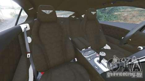 Bentley Continental GT 2012 v1.1 для GTA 5 вид справа