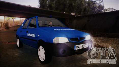 Dacia Solenza Jandarmeria для GTA San Andreas