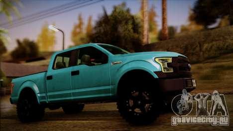 Ford F-150 4x4 2015 для GTA San Andreas вид сзади слева