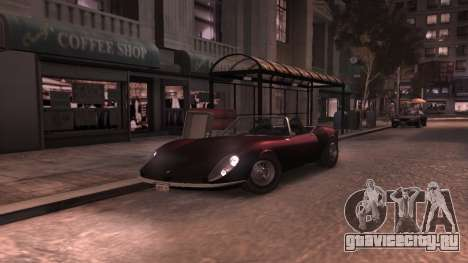 GTA V Stinger Classic для GTA 4 вид изнутри