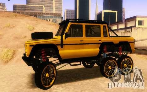 Благодетель Dubsta 6х6 пользовательские настройк для GTA San Andreas вид слева