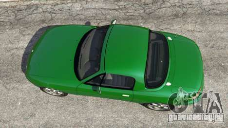 Mazda Miata MX-5 для GTA 5 вид сзади