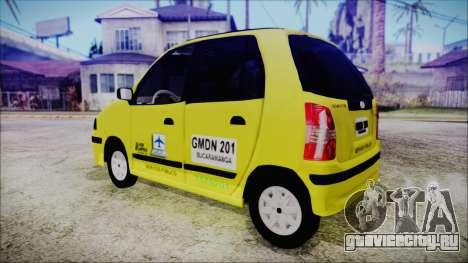 Hyundai Atos Taxi Colombiano для GTA San Andreas вид слева