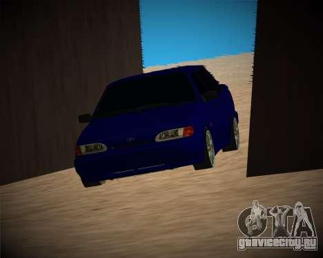 Ваз-2115 для GTA San Andreas вид снизу