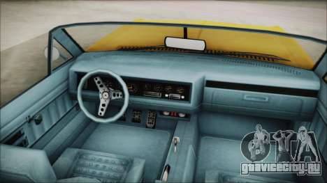 GTA 5 Albany Buccaneer Custom для GTA San Andreas вид сзади слева