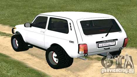 Lada Urban OFF ROAD для GTA San Andreas вид сзади слева