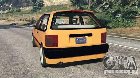 Fiat Tipo для GTA 5 вид сзади слева