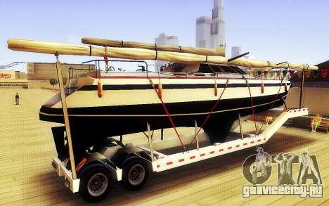 GTA V Big Boat Trailer для GTA San Andreas вид слева