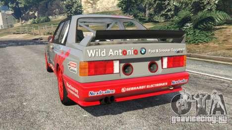 BMW M3 (E30) 1991 [Wild Autonio] v1.2 для GTA 5 вид сзади слева
