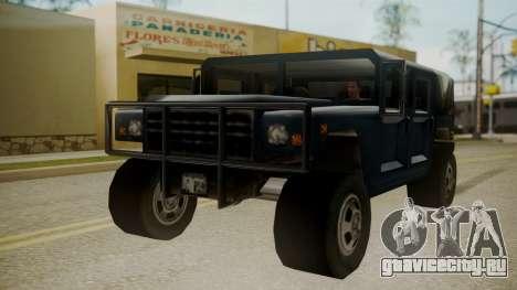 Patriot III для GTA San Andreas вид справа