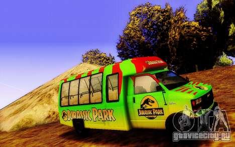 Jurassic Park Tour Bus для GTA San Andreas вид слева