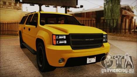 GTA 5 Declasse Granger IVF для GTA San Andreas вид справа