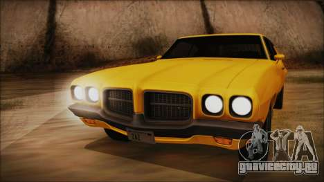 Pontiac Lemans Hardtop Coupe 1971 IVF АПП для GTA San Andreas вид сзади слева