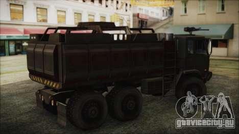 Archer Gun Truck для GTA San Andreas вид сзади слева