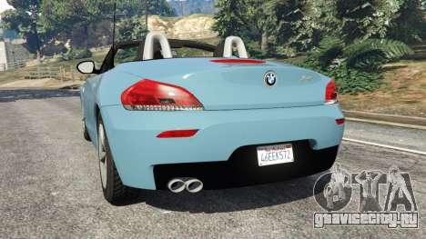 BMW Z4 sDrive28i 2012 для GTA 5 вид сзади слева
