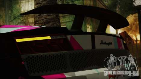Lamborghini Gallardo LP570-4 2015 Miku Racing 4K для GTA San Andreas вид изнутри