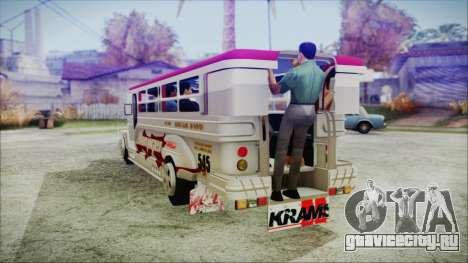 Hataw Motor Works Jeepney для GTA San Andreas вид слева