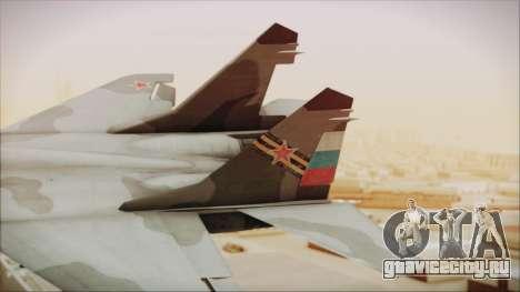 Mikoyan-Gurevich MIG-29A Russian Air Force для GTA San Andreas вид сзади слева