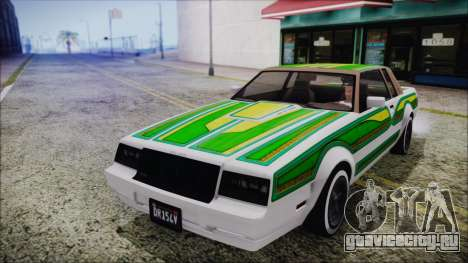 GTA 5 Willard Faction Custom without Extra Int. для GTA San Andreas вид изнутри