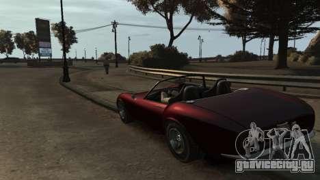 GTA V Stinger Classic для GTA 4 вид сзади слева