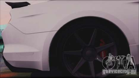 Ford Mustang Shelby GT350R 2016 для GTA San Andreas вид сверху