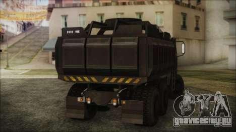 Archer Gun Truck для GTA San Andreas вид слева
