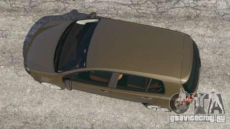 Volkswagen Golf Mk6 для GTA 5 вид сзади