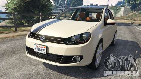 Volkswagen Golf Mk6 v2.0 [Stripes] для GTA 5