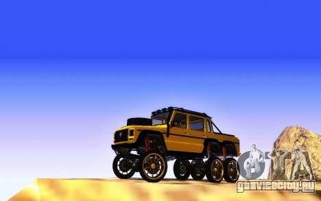 Благодетель Dubsta 6х6 пользовательские настройк для GTA San Andreas вид сзади