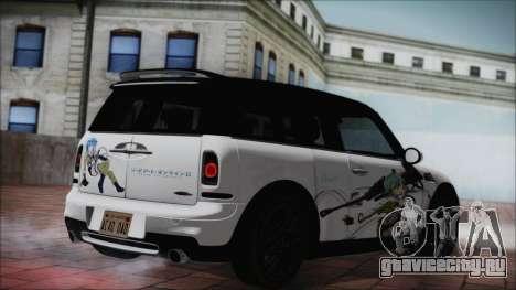 Mini Cooper Clubman 2011 Itasha для GTA San Andreas вид слева