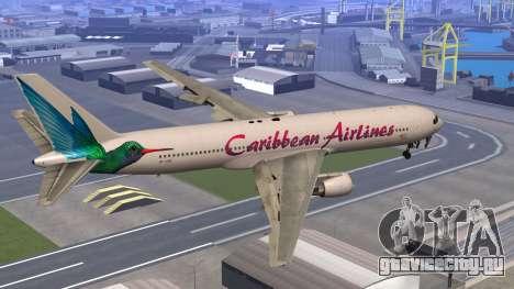 Boeing 767-300 Caribbean Airlines для GTA San Andreas вид слева
