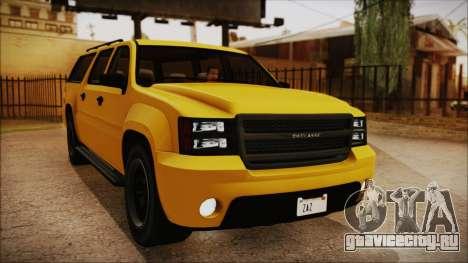 GTA 5 Declasse Granger IVF для GTA San Andreas вид сзади