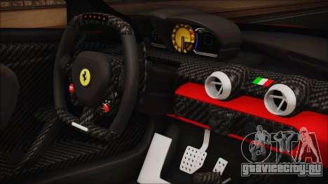 Ferrari FXX K 2016 v1.1 [HQ] для GTA San Andreas вид справа