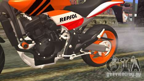Honda Hornet Repsol 2010 для GTA San Andreas вид справа