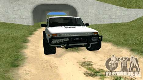 Lada Urban OFF ROAD для GTA San Andreas вид сзади