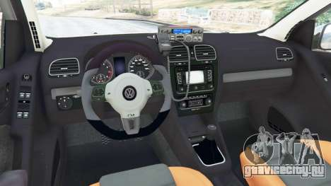 Volkswagen Golf Mk6 Police для GTA 5 вид сзади справа
